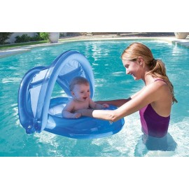 BOTE C/TECHO P/BEBE INFLABLE 34091