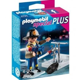 PLAYMOBIL BOMBERO CON EQUIPO 4795