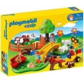 PLAYMOBIL 1.2.3.PRADO CON ANIMALES 6770