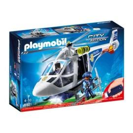 PLAYMOBIL HELICOPTERO POLICIA C/LUZ 6921