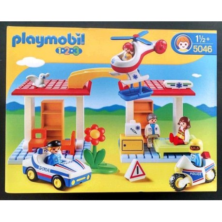 PLAYMOBIL 1,2,3 POLICE & AMBULANCE 5046