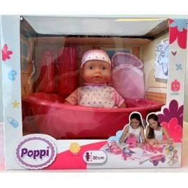 POPPI-BEBE CON BAÑERA 6605-28067