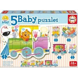 BABY PUZZLES TREN ANIMALES 18027