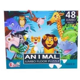 ANIMALES SELVA 48PCS ROMPECABEZAS FT169C