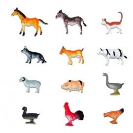 12 ANIMALES DE LA GRANJA DE 10CM 59512