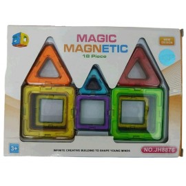 BLOQUES MAGNETICOS COLORES 18PZS MG11